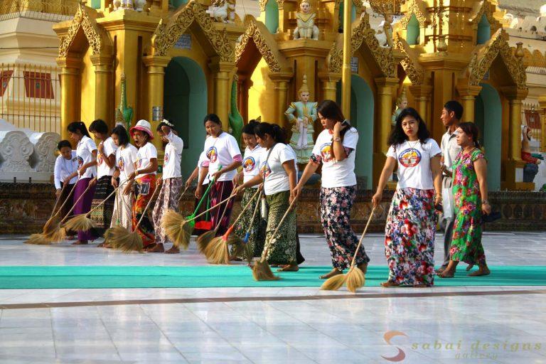 Sweepers Shwedagon Burma