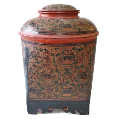 Antique Burmese lacquerware