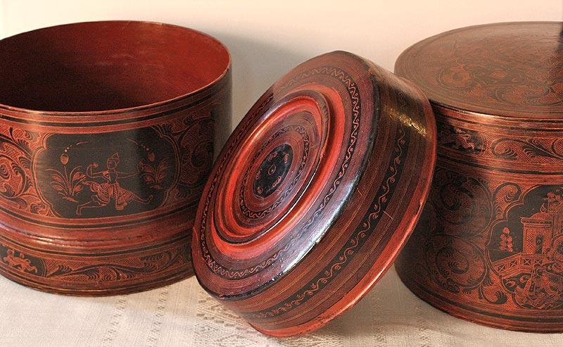 antique lacquerware decoration
