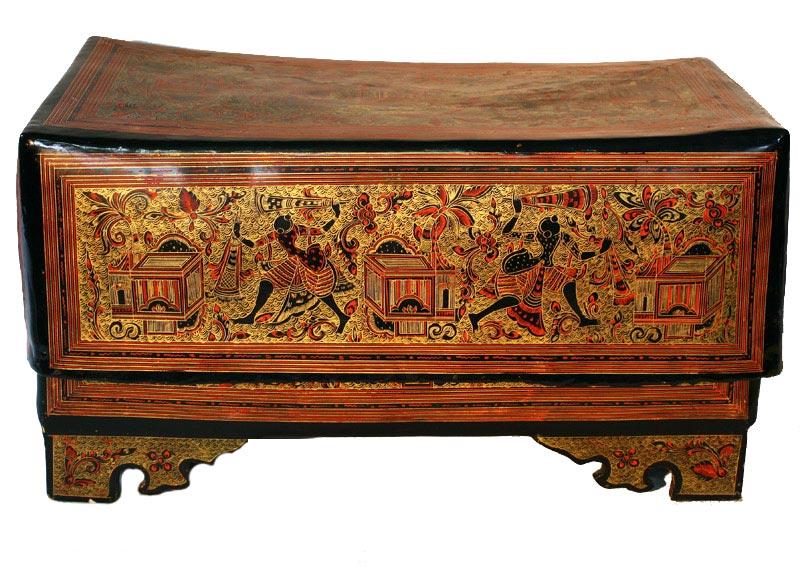 Antiqe Burmese lacquerware