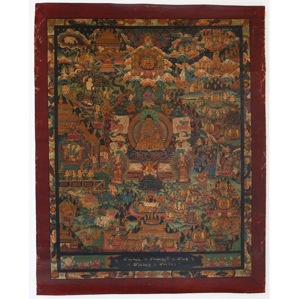 Antique Buddhist Thangka