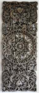 ANTIQUE THAI WOOD CARVING WALL PANEL