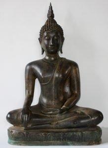 ANTIQUE THAI BRONZE BUDDHA STATUE