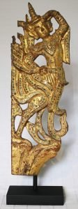 ANTIQUE BUDDHIST WOOD CARVING BURMA