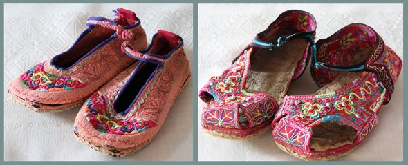 Vintage Hmong Baby Slippers