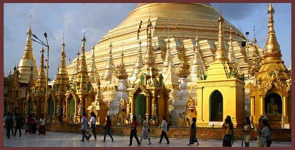 Gilded Shwedagon Pagoda, Yangon, Burma