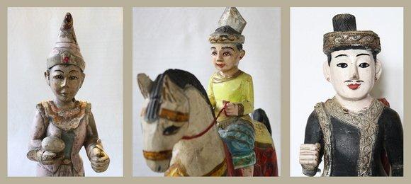 Antique Burmese Nat Wood Carvings