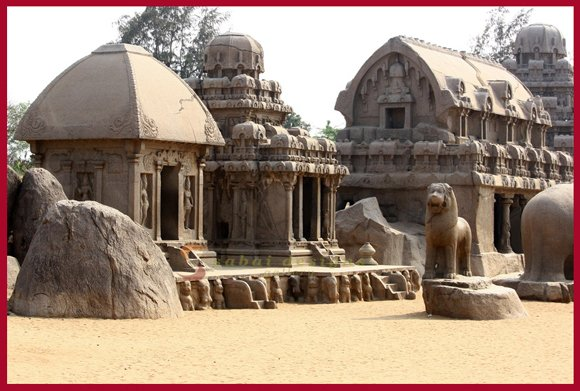 Pancha Rathas or The Five Rathas (630-680AD), Mahabalipuram