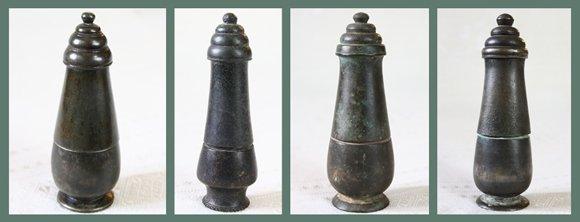 Antique Khmer Bronze Lime Pots