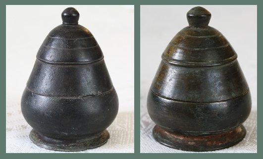 Antique Khmer Bronze Lime Pots Cambodia