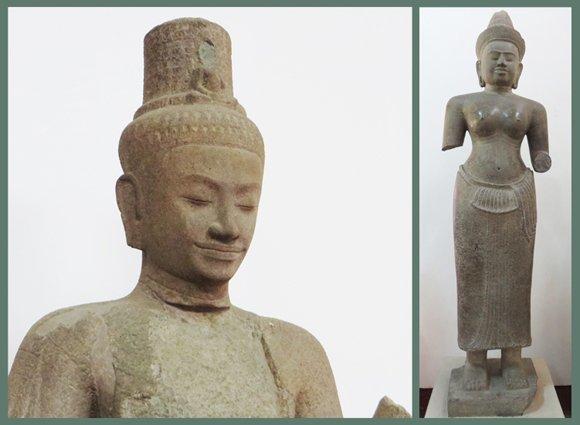 Khmer Empire Sandstone Sculpture, National Museum Cambodia