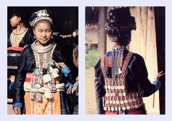 Hmong Girls in Traditional Costume