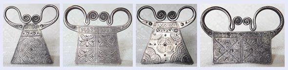 Antique Hmong Silver Soul Lock Pendants
