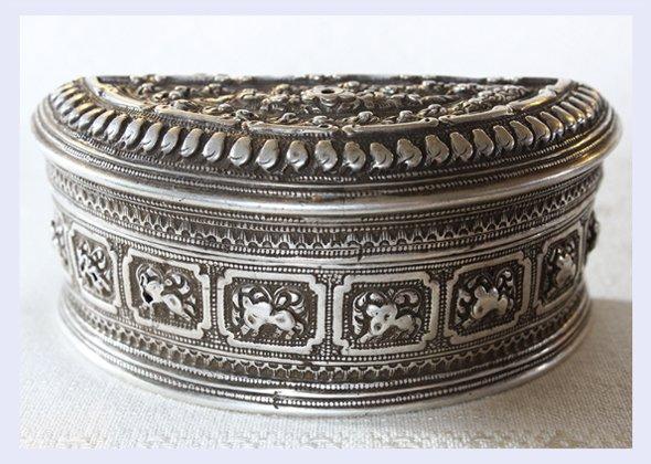 Antique Silver Medicine Box