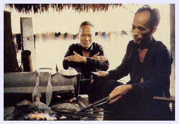 Hmong Silversmith at Work 20th Century