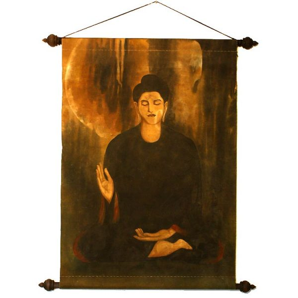 Canvass painting of the Buddha