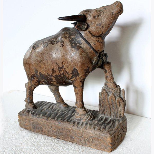 antique Burmese sculpture of Bull